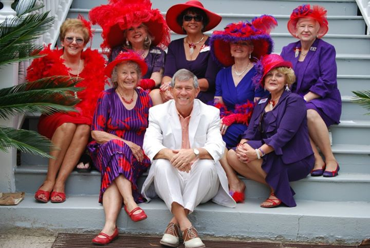 Ken with the Red Hat Ladies
